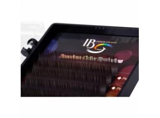 Цветные ресницы на ленте Черный шоколад i-Beauty (12 лент)