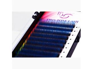 Ресницы на ленте «Два тона» синие Mix, i-Beauty