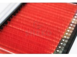 Цветные ресницы Красные Mix, i-Beauty (20 лент)