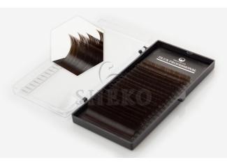 Ресницы Dlux Silk Черный шоколад Mix