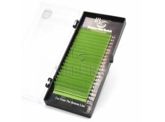 Цветные ресницы на ленте светло-зеленые Mix, i-Beauty (20 лент)