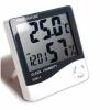 Цифровой термометр-гигрометр с часами и будильником HTC-1